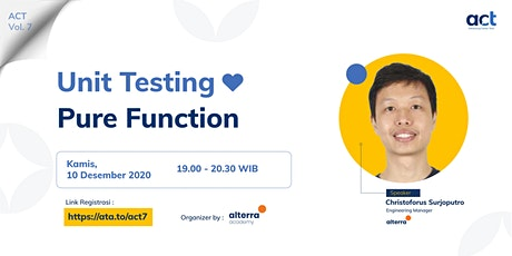 AC T #7 : Unit Testing Love Pure Function tickets