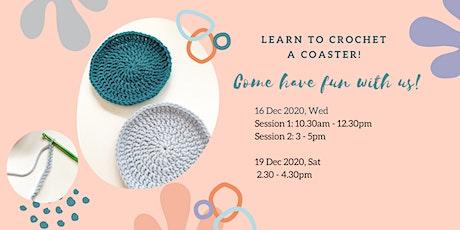 Basic Coaster Crochet Stitches Workshop tickets