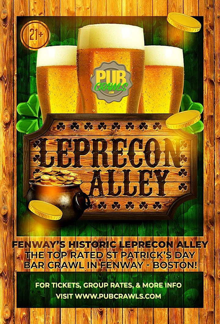 LepreCon Alley St Patrick's Day Weekend Bar Crawl (Fenway) image