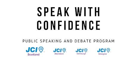 Speak With Confidence - balloon debate tickets