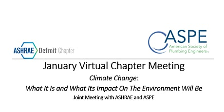 January 12th ASHRAE Virtual Event - Joint Meeting with ASPE tickets