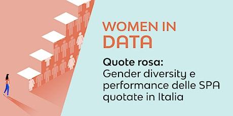 Women in data - Gender diversity e performance delle SPA quotate in Italia tickets