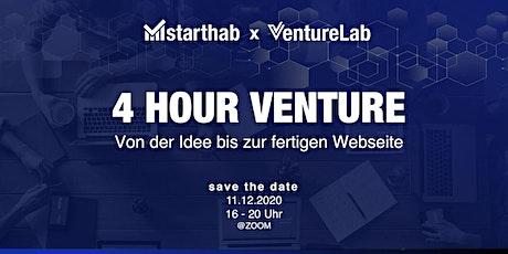 4 Hour Venture - Von der Idee zur fertigen Webseite @VentureLab Tickets