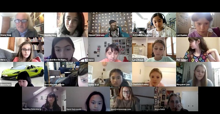 Readings by the Stone Soup Writing Workshop Students - Spring/Summer 2021 image