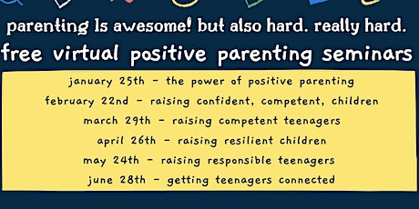 Positive Parenting Program Monthly Virtual Parenting Seminars tickets