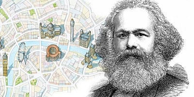 Karl Marx in London his life and ideas. A walking