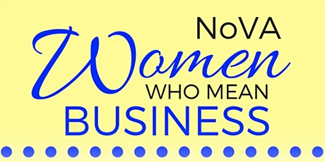 NOVA Women Who Mean Business Online Networking Event tickets