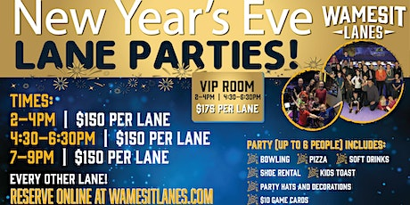 New Year's Eve Family Lane Parties tickets