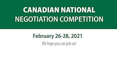 Canadian National Negotiation Competition 2021 tickets