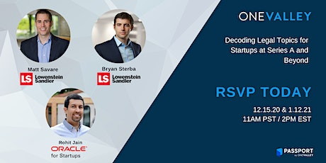 Decoding Legal Topics for Startups at Series A and Beyond tickets