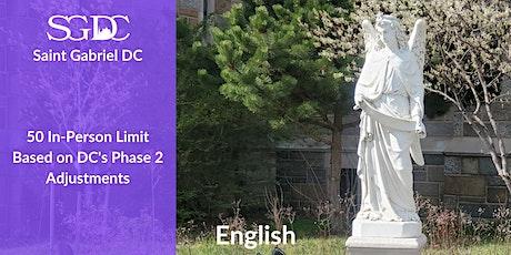 Mass (English)  - Sunday, December 6, 2020 10 AM boletos