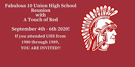 Union High School Fabulous 10 Class Reunion, A Touch of Red tickets