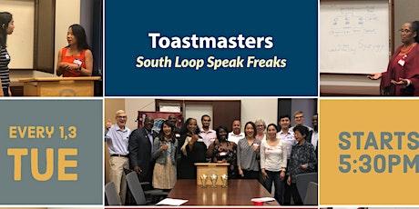 South Loop Speak Freaks Toastmasters Club #7079 Virtual Zoom Club Events! tickets