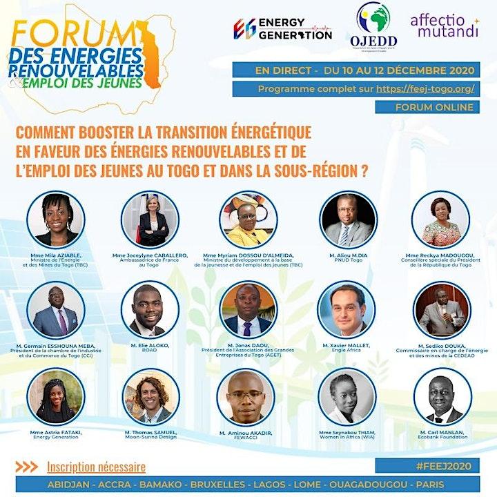 Image pour Forum Online des Énergies Renouvelables & Emploi des Jeunes