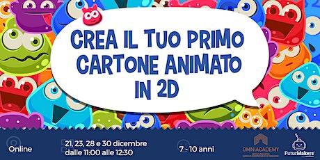 Crea il tuo primo cartone animato in 2D (7-10 anni) biglietti