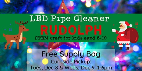 Kids' Craft: LED Pipe Cleaner Rudolph -- Curbside Supply Bag Pickup tickets