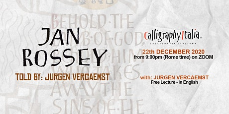 """Free Lecture – """"Jan Rossey, told by Jurgen Vercaemst"""" tickets"""
