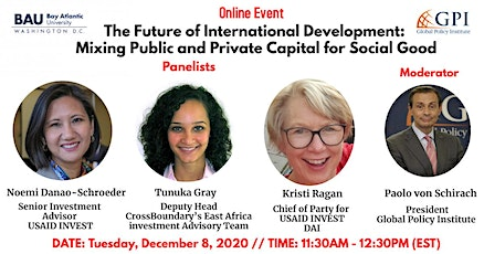 The Future of International Development: Mixing Public and Private Capital entradas