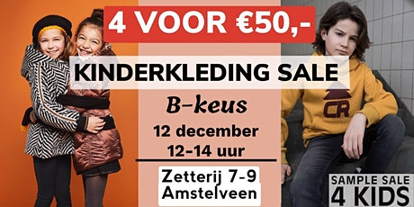 B-keus Kinderkleding Wintersale - 4 stuks voor € 50,- | 12 december tickets