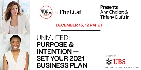UNMUTED: Purpose & Intention—Set Your 2021 Business Plan tickets