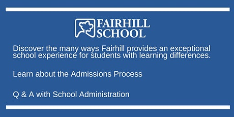 Fairhill School - Virtual Admissions Preview tickets