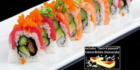 "Cooking Class -""Miso Happy"" Sushi Cooking Class w. DESSERT/SAKE + Sushi Mat tickets"