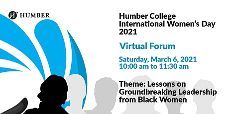 Humber College International Women's Day 2021 Virtual Forum tickets
