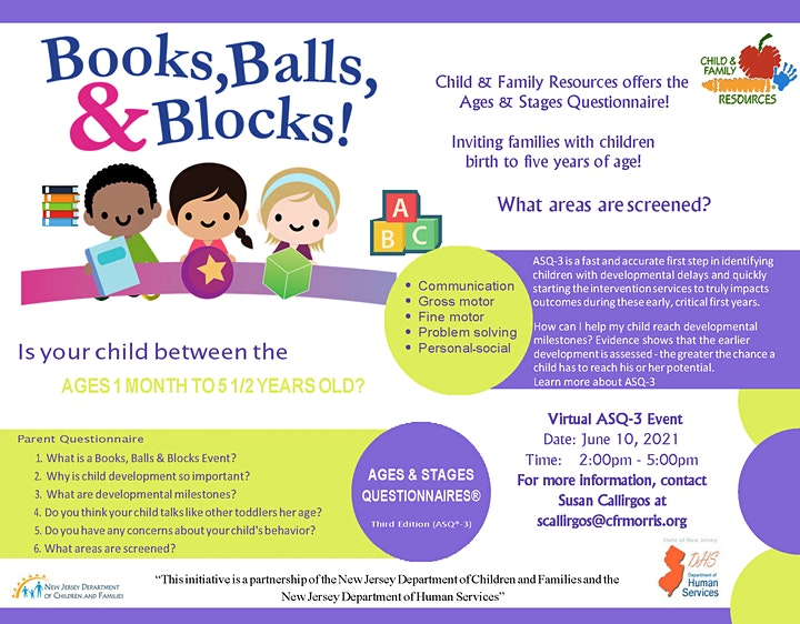 ASQ - 3 Virtual Event/ Books, Balls & Blocks! image