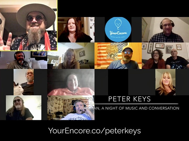 """Peter Keys """"One Man, a Holiday Special"""" with Music and Conversation on Zoom image"""