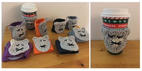 Cat Crafts: crochet a coffee cup cozy tickets