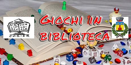 GIOCHI IN BIBLIOTECA (ON LINE ) biglietti