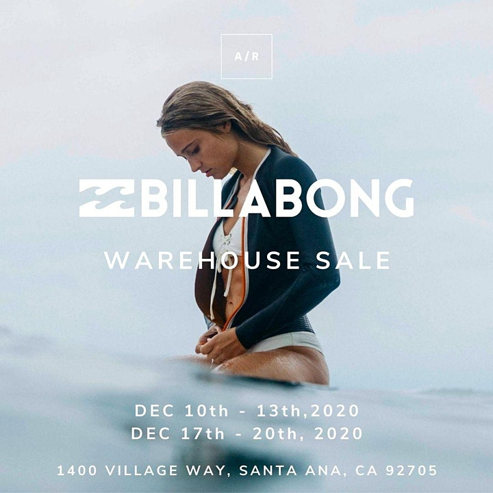 Billabong Warehouse Sale - December 2020 - Santa Ana, CA image