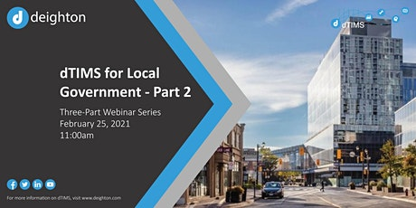 dTIMS for Local Governments - Part 2 tickets