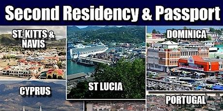 Second Citizenship & Residence Programs - Meet Authorised Ambassadors tickets