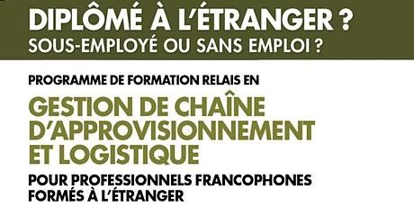 Séance d'info|Info session: Supply Chain Management - Bridging Program billets