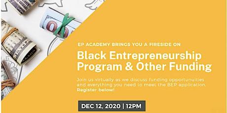 Black Entrepreneurship Funds (Grants from Canadian Govt.) tickets