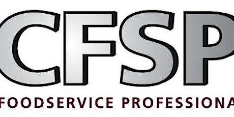 October 2021 Online CFSP Course: Certified Food Service Professional (CFSP) tickets
