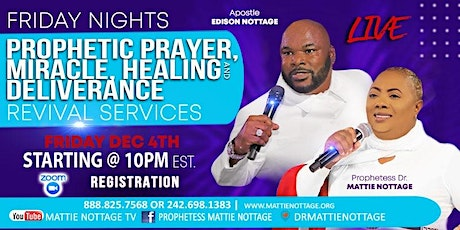 FREE ZOOM EVENT - FRIDAY NIGHT PROPHETIC PRAYER & DELIVERANCE REVIVAL!! tickets