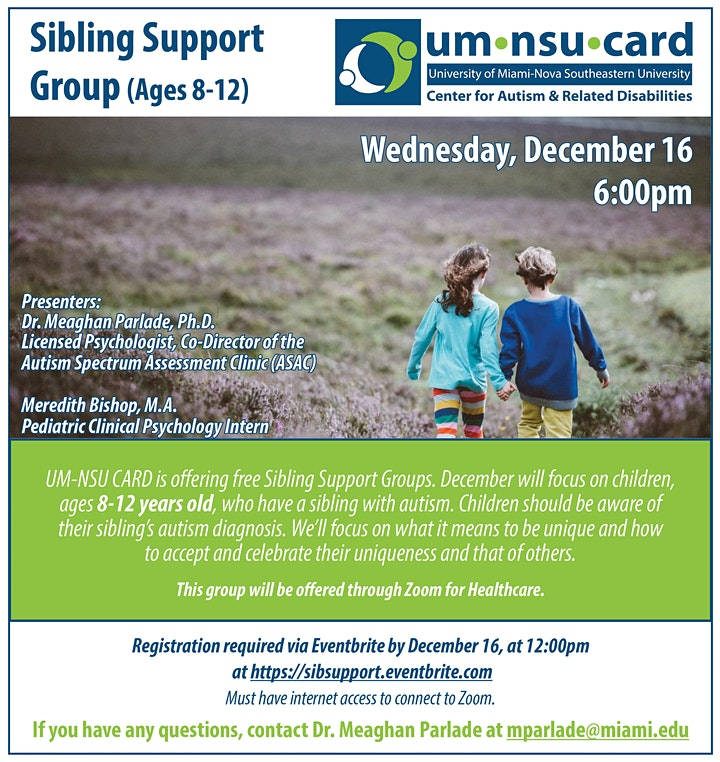 Sibling Support Group (Ages 8-12) image