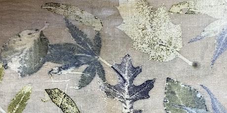 Atelier virtuel d'Impression Botanique sur Tissus avec teinture naturelle billets
