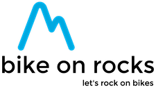 bike on rocks logo