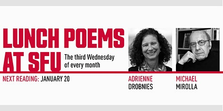 Lunch Poems presents Adrienne Drobnies & Michael Mirolla tickets