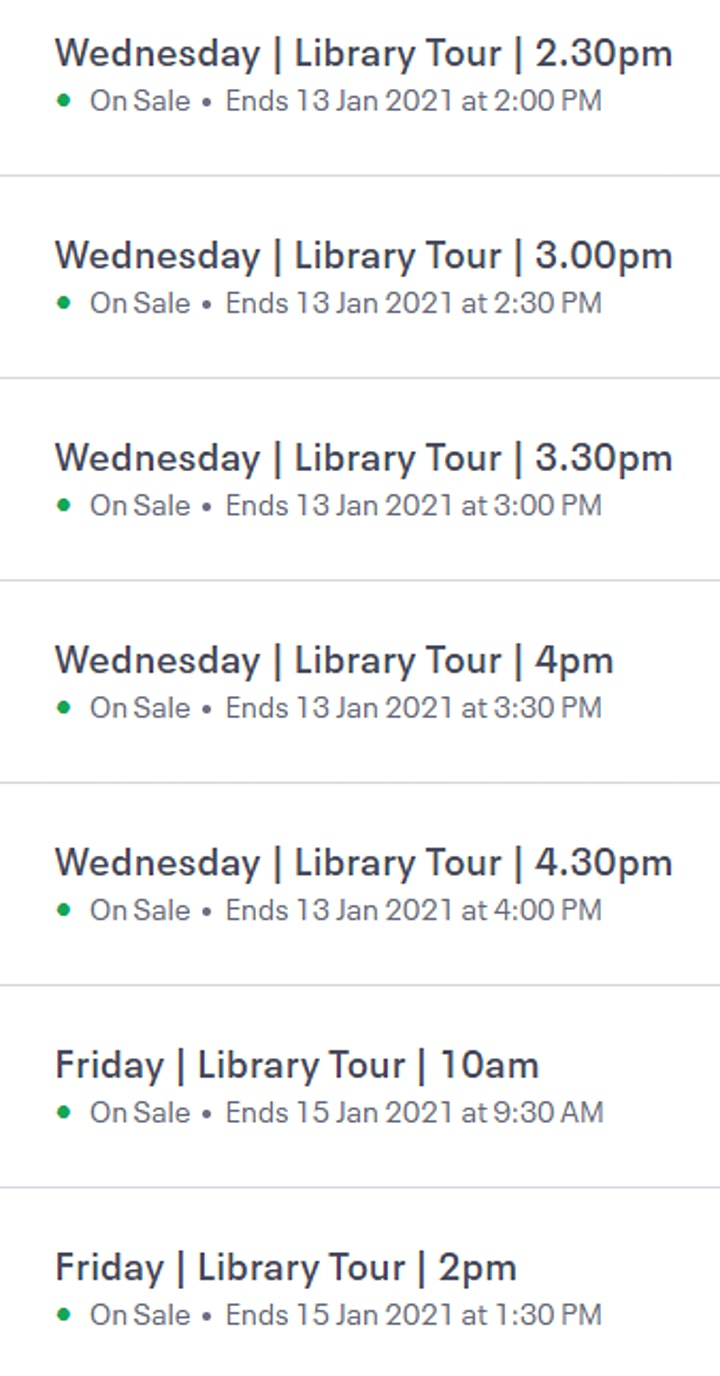 Orientation 211 Library Tours image