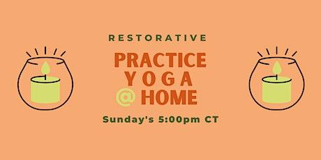Practice Yoga @ Home: Restorative tickets
