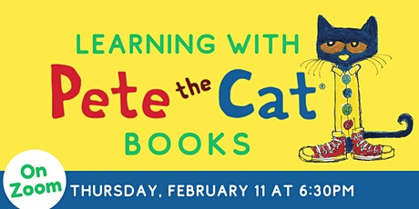 Online: Learning with Pete the Cat Books tickets