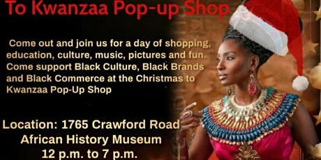 From Christmas to Kwanzaa pop-up shop tickets