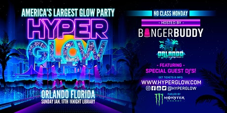 """Hyperglow Orlando, FL! """"America's Largest Glow Party"""" tickets"""