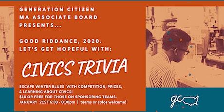 Generation Citizen MA - January Civics Trivia tickets