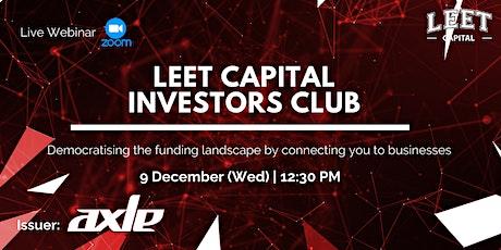 Leet Capital Investors Club entradas