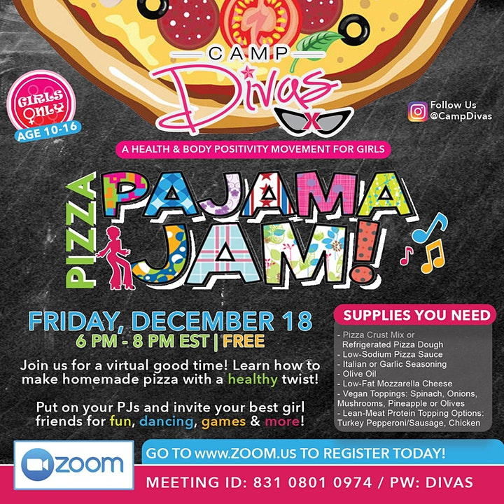Camp Divas Pizza Pajama Jam image